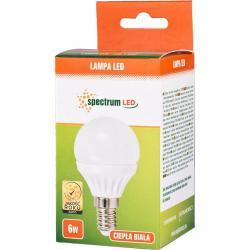 Spectrum LED żarówka E14 6W kulka