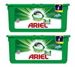 Ariel kapsułki do prania białego 28x2szt. górska świeżość 3w1
