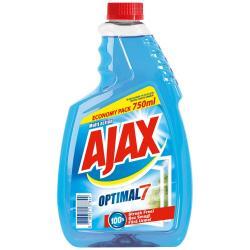 Ajax płyn do szyb 750ml niebieski zapas