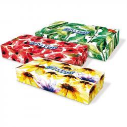 Soft & Easy chusteczki dwuwarstwowe Kwiaty 80szt. Kartonik