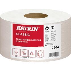 Katrin Classic 2504 papier Jumbo biały 2-warstwowy, 150 metrów, 12 sztuk