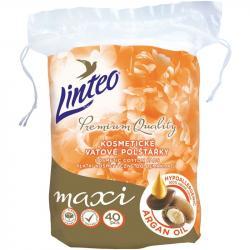 -50% wyprzedaż Linteo płatki kosmetyczne MAXI 40szt hypoalergiczne z olejem arganowym