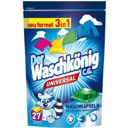 Der Waschkonig kapsułki piorące uniwersalne 27 sztuk