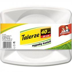 Jan Niezbędny talerze plastikowe 40 sztuk