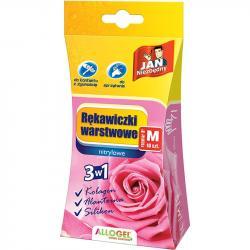 Jan Niezbędny rękawice warstwowe M 10 sztuk różowe