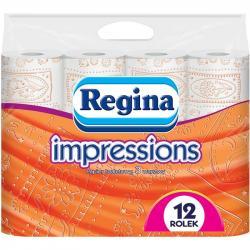 Regina papier toaletowy trzywarstwowy Impressions 12szt. Pomarańczowy