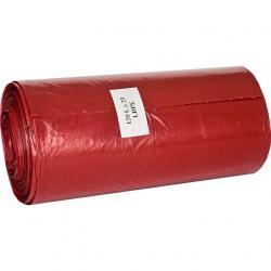 Ekosell worki LDPE 120l 25 szt. czerwone