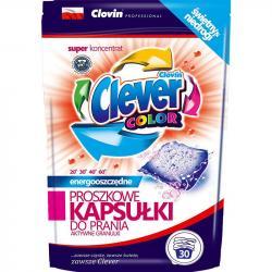 Clever kapsułki proszkowe do prania tkanin 30szt. Color