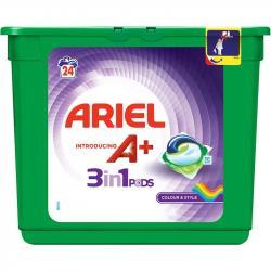 Ariel kapsułki do prania tkanin kolorowych 24 sztuki