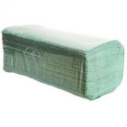 Ręczniki składane ZZ 1 warstwowe zielone karton 4000 sztuk