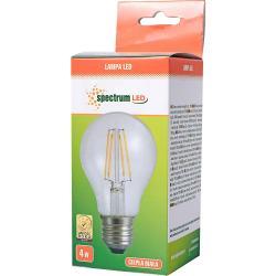 Spectrum LED żarówka E27 4W Ciepła biała Żarnikowa