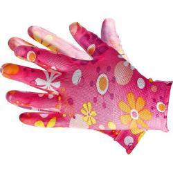 Rękawiczki ochronne w kwiatki rozmiar 7 - S (małe)