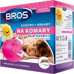 Bros Elektro dla dzieci na komary urządzenie + wkłady 10 szt.