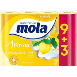 Mola papier toaletowy żółty 9+3 rolki