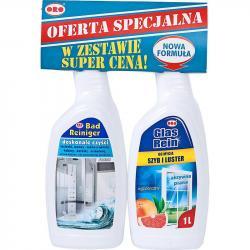 ORO zestaw płyn do łazienek Fresh 1L + płyn do szyb Egzotyczny 1L