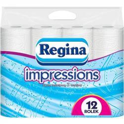 Regina papier toaletowy trzywarstwowy Impressions 12szt. Biały