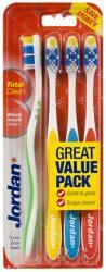 Jordan Total Clean szczoteczki do mycia zębów 4 sztuki miękkie