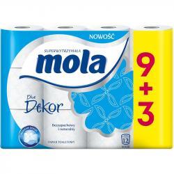 Mola Blue Dekor papier toaletowy 9+3 sztuki