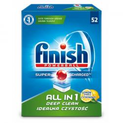 Finish All in 1 tabletki do zmywarek 52 szt. cytrynowe