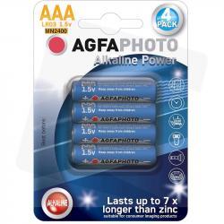 Agfa baterie alkaliczne AAA LR03 cienkie paluszki 1,5V 4 szt.