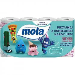 Mola UPS papier toaletowy 3 warstwowy 8 sztuk Dekor napisy