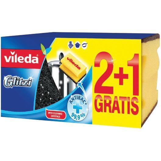 Vileda zmywak profilowany Glitzi 2+1 gratis