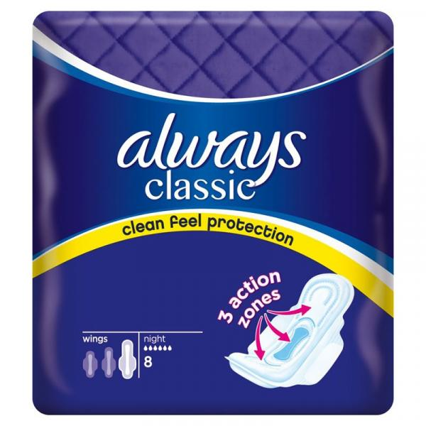 Always Classic Night podpaski 8szt