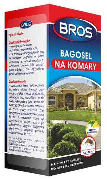 Bros oprysk na komary Bagosel 100EC 50ml citronella