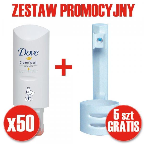 Diversey Soft Care Select PAKIET Dove mydła x50 + 5 dozowników